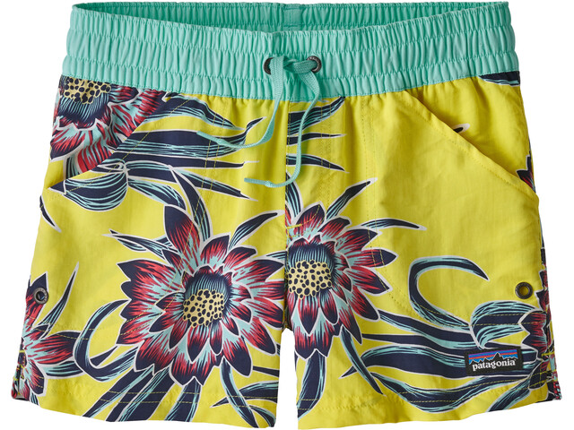 Patagonia Girls Costa Rica Baggies Shorts Cereus Flower: Spire Yellow